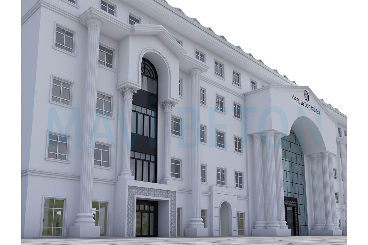 özel değer koleji okul binası prekast